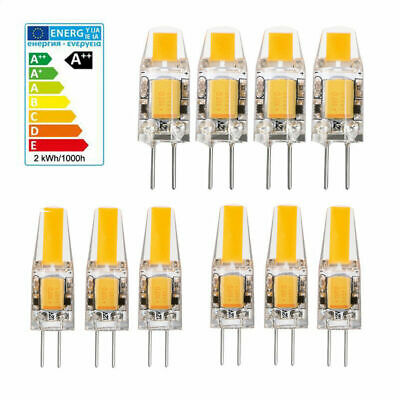 12x 10x G4 G9 LED 3W 6W 12V 220V Dimmable COB Ampoule Remplacer Lampe Halogène