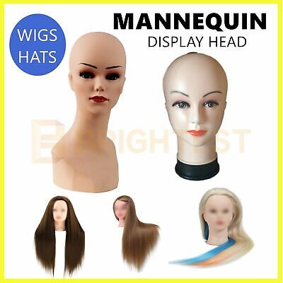 Mannequin Display Head Stand Female Makeup Model Hat Wig Hair Jewellery Dummy