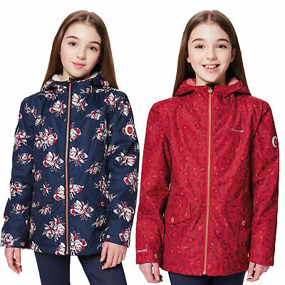 Regatta Berezie Kids Girls Insulated Hooded Waterproof Jacket Floral RRP £50