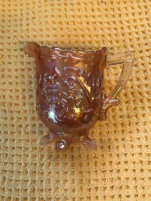 Antique English Sowerby Carnival Glass Thistle And Thorn 1920s Jug