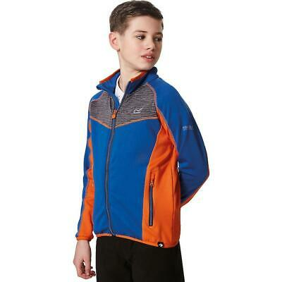 Regatta Overon Kids Boys Warm Backed Stretch Softshell Jacket Blue RRP £35