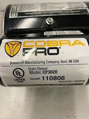 Cobra Pro 75-ft  Wire Machine Auger-180E, Model # CP3020 Replacement Motor