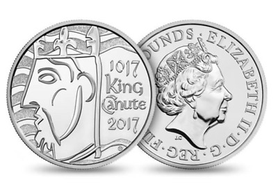 2017 King Canute £5 Five pound Coin Brilliant Uncirculated BUNC UK Royal Mint