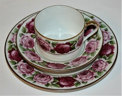 "Royal Limoges ""Rose de Paris"" Kaffee-/Teegedeck 3-teilig"