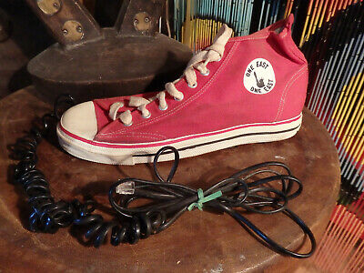 Vintage Shoe phone Converse telephone Hi Top Red Chuck Taylor Statue Of Liberty