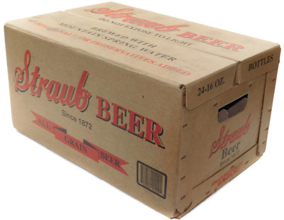 Vintage Straub Beer Advertising Cardboard Crate Case Original Box St. Marys PA