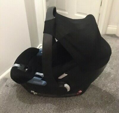 Cybex Aton Car Seat Parts NO RODS Black Hood Fabric Sun Shade Canopy Poppers