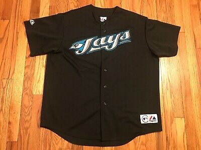 Toronto Blue Jays Roy Halladay Jersey Majestic Mens XL Black MLB Hall Of Fame