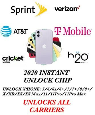 2020 INSTANT UNLOCK CHIP: ALL iPHONE MODELS 5 AND UP:T-MOBILE, SPRINT, ATT ect..