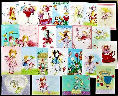 Hunkydory Little Book Of Fairy Sweethearts Card Toppers X24 Great Variety 20C Ea