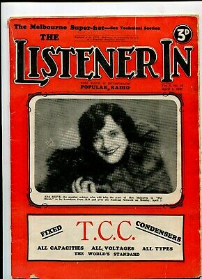 The Listener In magazine April 1933