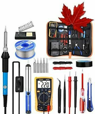 Soldering Iron Kit with Digital Multimeter, Rarlight 60W 110V Adjustable Temp...