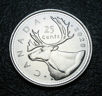 RCM - 2020 - 25-cents - Caribou - BU ( From a new roll )