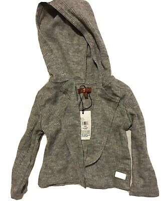 Girls Cardigan 7 For Mankind Grey With Hood Size 18 Months