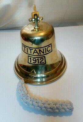 Solid Brass Titanic 1912 Ship Bell Pub Door Wall Mountable Bell 15 cm