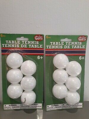 All-Star Sports Plastic Table Tennis Ping Pong Balls 6-Count Pack For Ages 6+