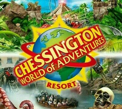 2 x Chessington World Of Adventures Entry  E-Tickets Tickets Monday 13th July