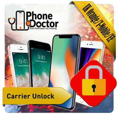 UK Orange/T-Mobile/EE - Unlocking Service Apple iP 3 to 8/8+/X/Xr/Xs/XsMax/11PM