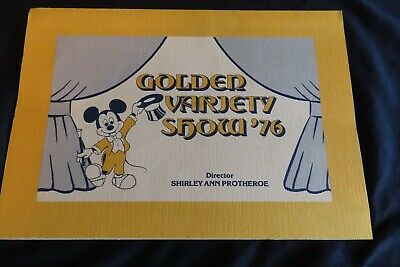 Vintage Walt Disney World GOLDEN VARIETY SHOW 1976 program