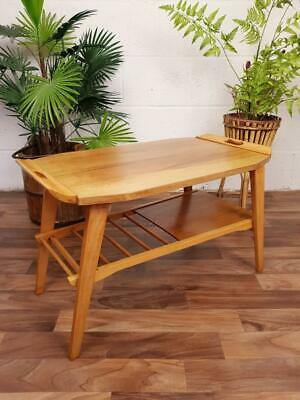 Vintage 1960's Wooden Butlers Table Mid-Century Scandi Retro Free Post!