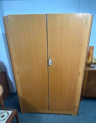 Vintage Retro Mid Century Double Wardrobe (By Avalon Yatton)