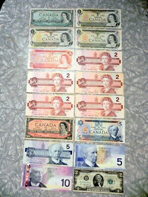 Canadian paper money, uncirculated & circulated