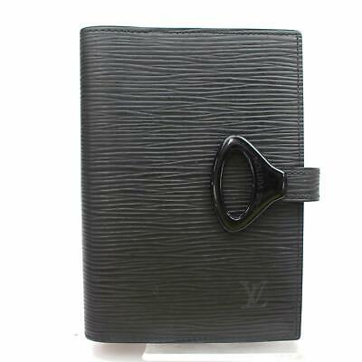 Louis Vuitton Diary Cover Agenda PM Black Epi 1000216