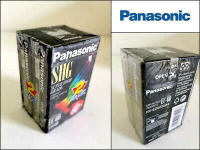 PANASONIC EC-60 2 Pack VHSC Compact Video Cassette 60min New and Sealed