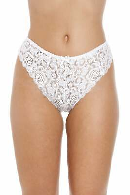 Camille Womens Three Pack Lime Green Floral Lace Boxer Shorts