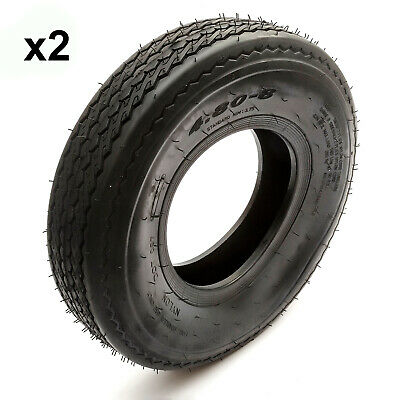2x Trailer Tyre 4.80/4.00-8 4 Ply Road Legal Fits 8'' Rims Max 265kg Rated 81mph