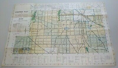 Vintage 1939 Mahoning County Youngstown Ohio Road Highway Map Railroad