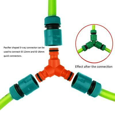 Plastic Y-Shaped 3-Way Pacifier Connector Quick Connector for Garden Water Pipes