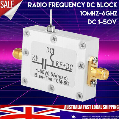 10MHz-6GHz Bias Tee Radio Broadband RF Microwave Coaxial Low Noise Amplifier HOT