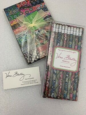 Vera Bradley Journal Diary PATCHWORK 100th Anniversary Edition & Pencils NEW #2