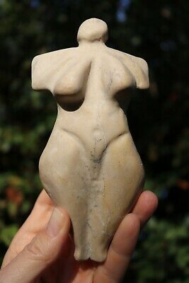 Late Cycladic European Neolithic Venus carved marble, 17 cm, 1500-1000 BC