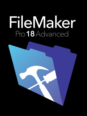 FileMaker Pro Advanced 18 For 1PC or MAC - Free Updates - Life Time Key - ESD