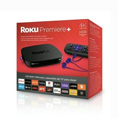 Roku Premiere+ - HD and 4K UHD Streamer with HDR and Enhanced Remote (New)