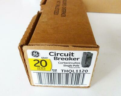 GE General Electric THQL1120 Circuit Breaker 1 POLE 20 AMPS (Box Of 10) NEW