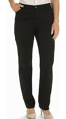 Lee Black Womens Size 18 Short Relaxed Fit Straight Leg Pants $44