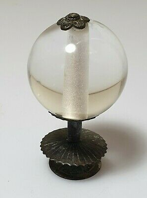 A Qing Dynasty Fifth Rank Imperial Court Hat Finial. Clear Glass
