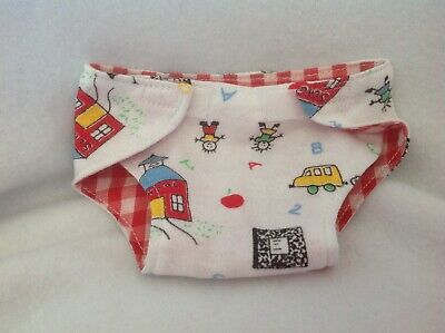 """Boy/girl school fall Apple Cloth doll diaper 15"""" BITTY BABY CABBAGE PATCH Fits"""