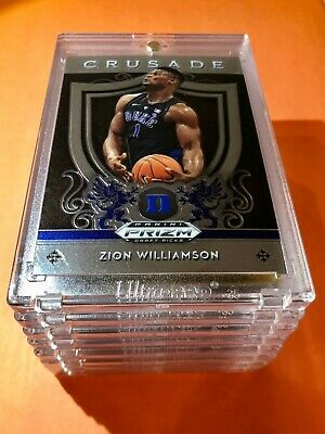 Zion Williamson PANINI PRIZM HOT ROOKIE 2019-20 DRAFT PICKS CRUSADE RC #51 Mint