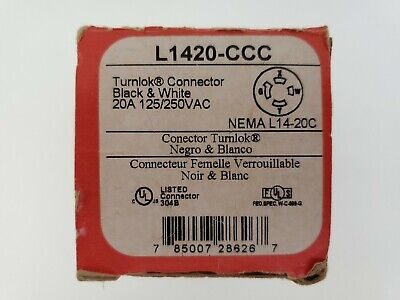 Pass & Seymour L1420-CCC 20A 125/250V Twist Lock Female Connector 4-wire Turnloc