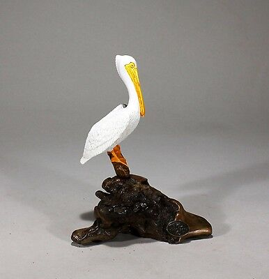 6in wingspan Figurine Pelican MOBILE Sculpture Decor by John Perry 4 BIRDS