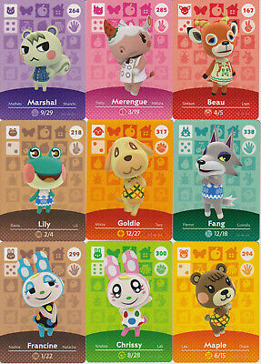 Animal Crossing Amiibo Cards - Many to choose from! Series 2 Series 3 & Series 4