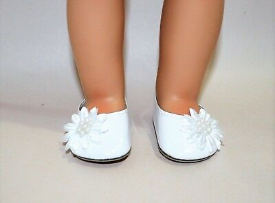 Fits American Girl Doll Our Generation 18 Dolls Clothes Shoes White Slip On