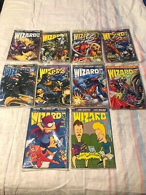 Wizard Comic Magazine #20-30 (1993-1994) Lot Of 10, Bagged And In VF Condition