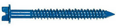 Masonry Screw Anchors With Bit, Hex Head, 3/16 x 2.75-In., 100-Pk.