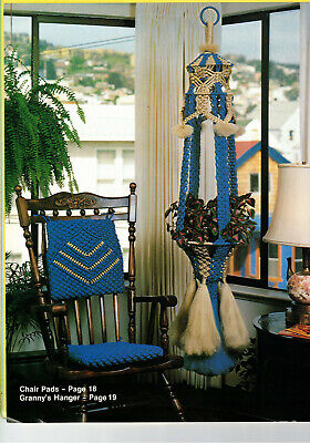 Retro Macrame Patterns Chair Pads, Hanger and Scale Home Decor