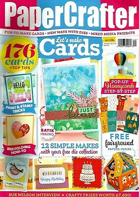 Papercrafter  Let's Make Cards Magazine Issue 120. 2018 Free Celebration Die Set